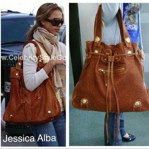 ddab46dbaf6f Gustto Parina Large Brown Leather Handbag Bag